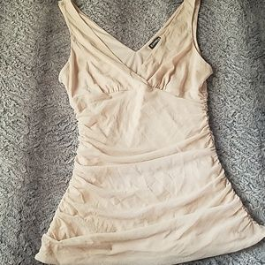 Express Tops - Express ruching top creme colored shimmery